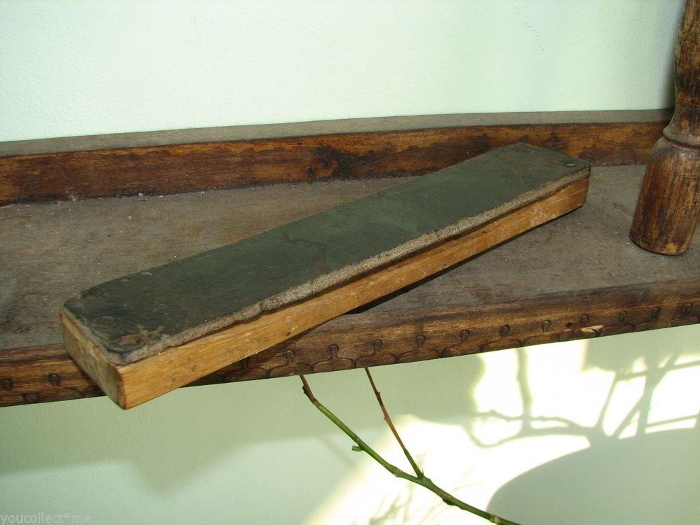 Vintage Straight Shave Razor Leather Belt Strop Sharpener Handmade Barber Tool