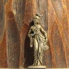 China #7 Kinder Surprise Metal Lady Fan Figurine Vintage Toy 3 cm Copper Finish