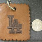Genuine Leather Vintage Key-Chain Key Ring Holder LA Signed