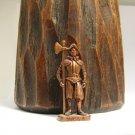 SWISS 5 Kinder Surprise Metal Soldier Figurine Vintage Toy 4 cm Copper Finish