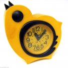 Yellow Bird Deco Nice Vintage Alarm Clock SLAVA Soviet USSR 11 Jewels Works Fine