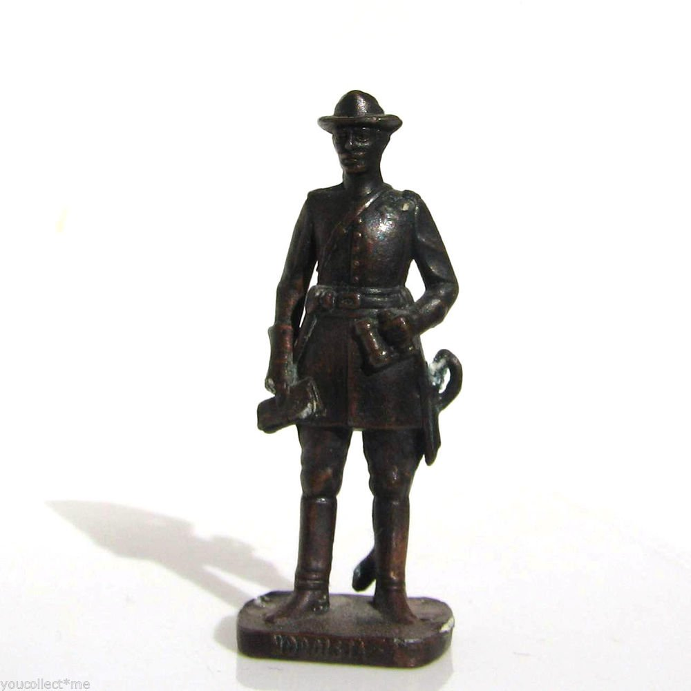Nordista #5 Civil War Kinder Surprise Metal Soldier Figurine Vintage Toy 4 cm