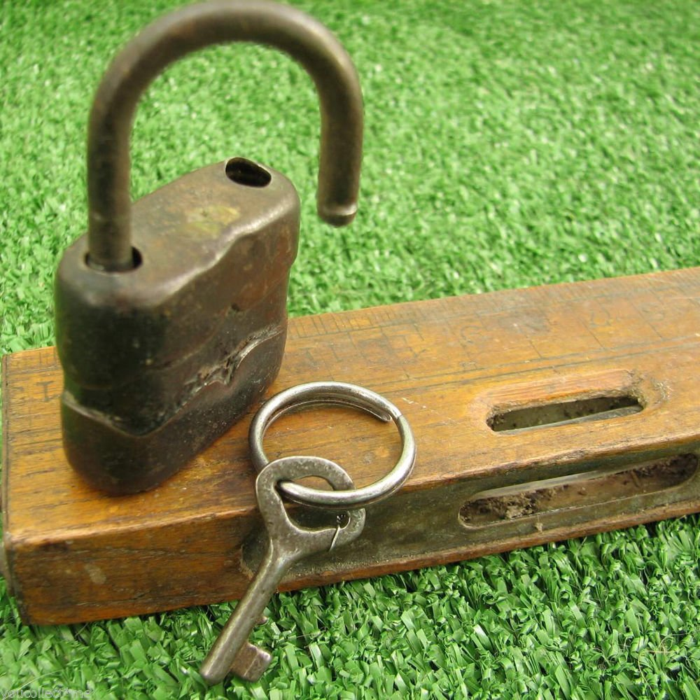 Vintage Padlock Small Kid Child Diary Locker Pad Lock w/ Key Germany 1970s Works