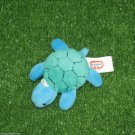 Blue Turtle Small Plush Toy Loop Key Chain Ring Cell Phone Lucky Charm