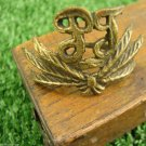 Vintage Bulgarian Army or Government Organization Hat Sign Cockade Cast Brass