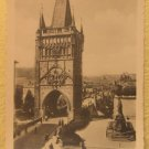 Praha Vintage Photograph Tourist Souvenir B&W Photo Bruckenturm Bridge Prague #5