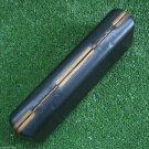 VINTAGE FOUNTAIN PEN BALLPOINT PEN PENCIL CASE BOX BLACK BRASS TRIM WHITE LINING