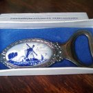 Vintage Silver Plated Bottle Opener Pako Rhenen Holland Windmill Halmarked Boxed