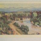 COROT vintage post card le pont d'Auguste sur la Nera Stella Cartes Painting