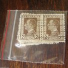 Vintage Postage Stamps Post Stamp Lot Collection 10 pc Bulgaria 2 leva Brown