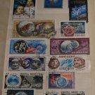 Vintage Soviet USSR Space Program Theme Postage Stamps Mixed Lot Set