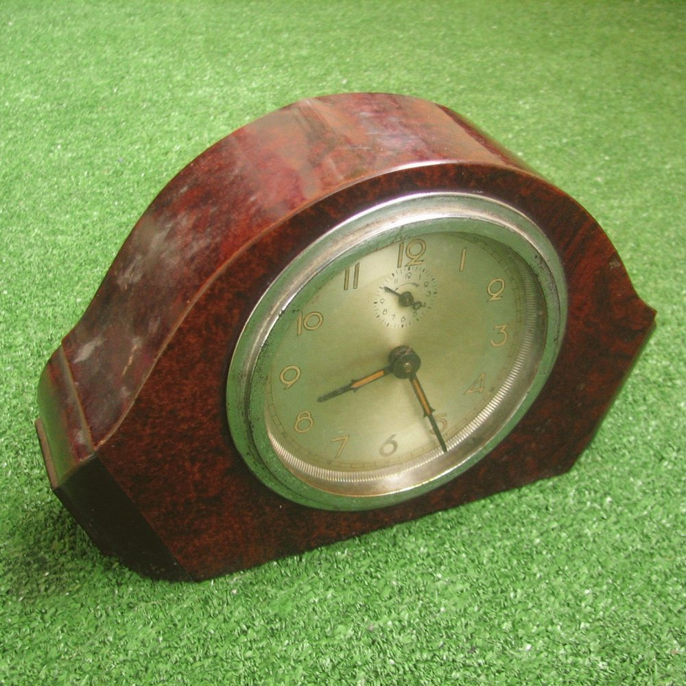 Vintage Mantle Alarm Clock FOREIGN For Spares and Repair