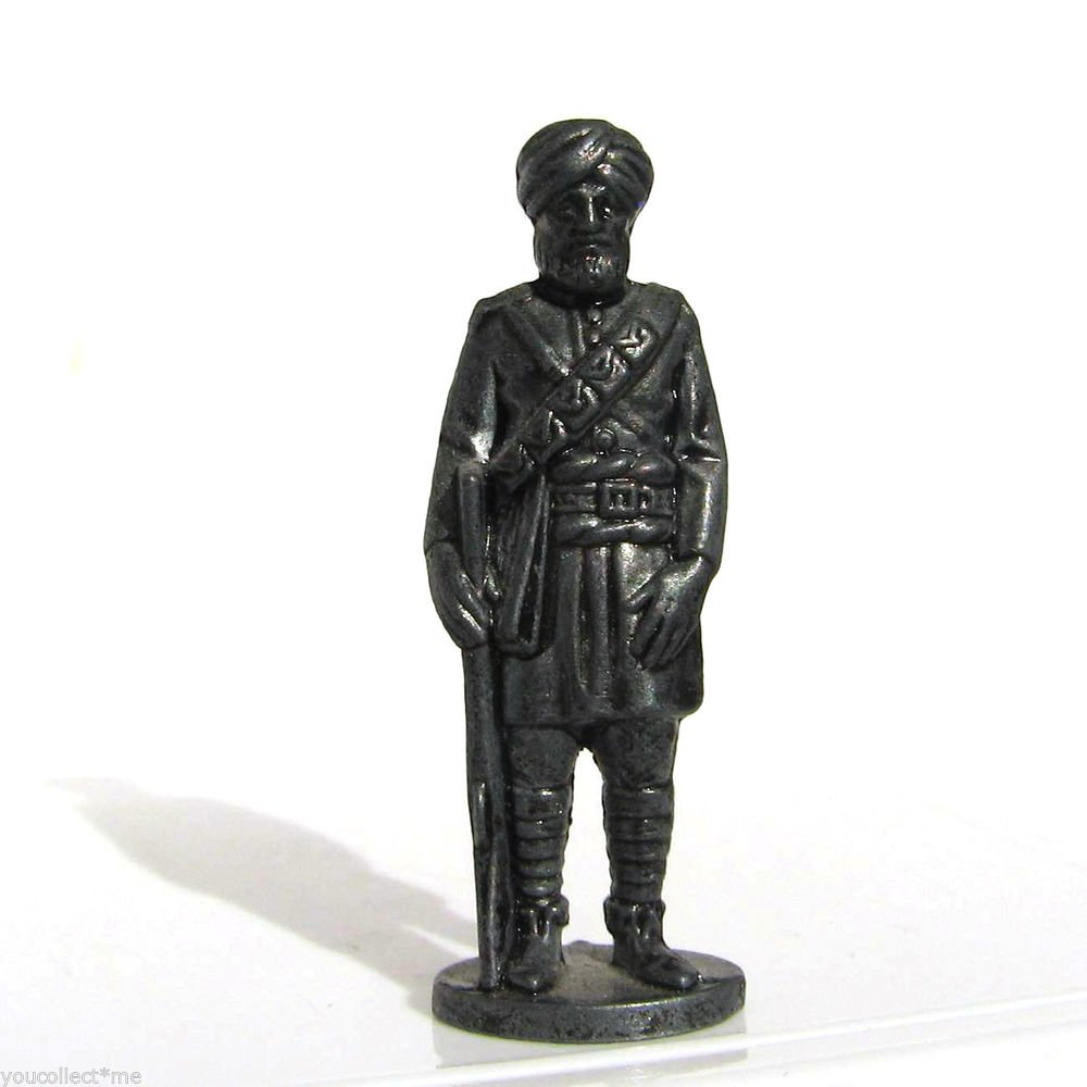 British India #7 Kinder Surprise Metal Soldier Figurine Vintage Toy 1.5 inch