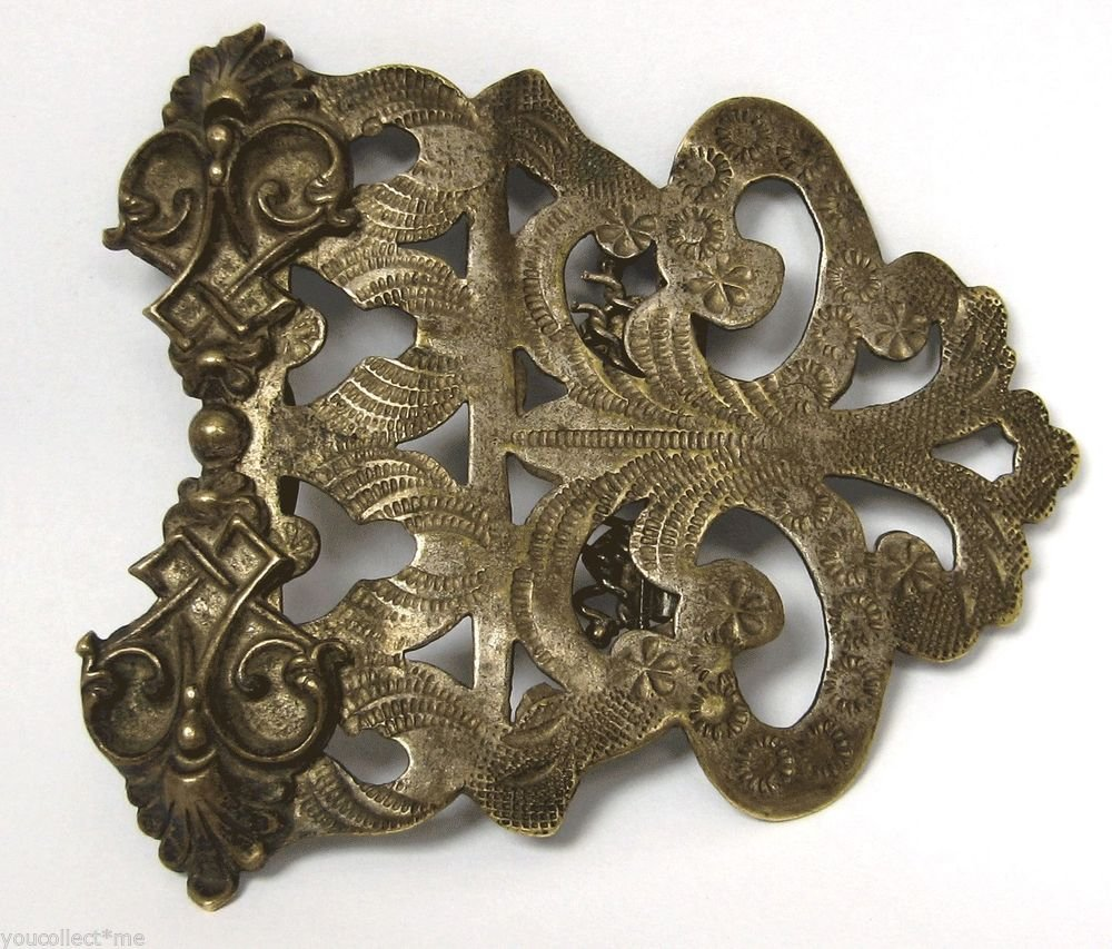 Antique Belt Buckle Women's Traditional Costume Jewelry Europe Early 1900s