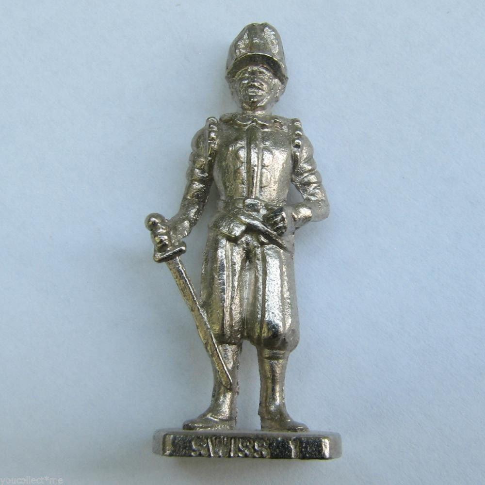 SWISS 1 Kinder Surprise Metal Soldier Figurine Vintage Toy 4cm High
