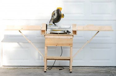 Miter Saw Stand with Folding Arms