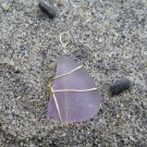 Lights Of Atlantis - Very Rare Lavendar Seaglass Pendant