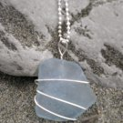 Ocean Dream - Rare Light Blue Seaglass Pendant
