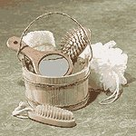 6-Piece Wood Bucket Bath Set