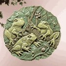 Garden Frogs Wall Plaque