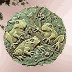 Garden Frogs Wall Plaque