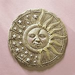 Alabastrite Sun & Star Garden Plaque