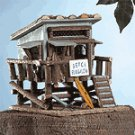 Wood Beach Bungalow Birdhouse