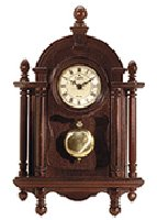 Wood Wall Clock With Pendulum