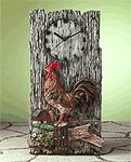 Alabastrite Rooster Wall Clock