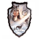 Wolf Spirit Arrowhead-Shaped Clock