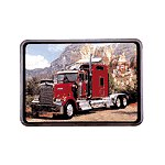 Red Big Rig Wall Clock
