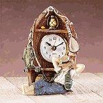 Alabastrite Fisherman Boat Clock