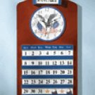 Wood Eagle & Flag Clock & Calendar