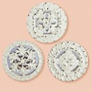 Distress Medallion Mirror Set3