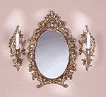 Baroque Mirror & Sconce Set