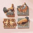 12-Piece Alabastrite Chicken Magnetic Memo Holder