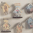 Mini Birdhouse Magnetic Memo Holders