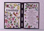 "Simulated Stained Glass ""Friendship"" Plaque"