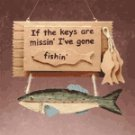"Wood ""Gone Fishing"" Key Box"