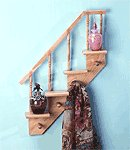 Wood Staircase Shelves