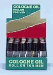 Man's Cologne Oil Roll On Display