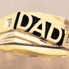"10K Gold ""Dad"" Diamond Ring"
