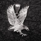 Sterling Silver Diamond-Cut Eagle Pendant