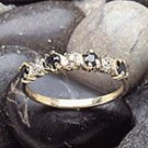 10K - Gold Lady's Sapphire Diamond Ring