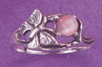Sterling Silver Pink Cat's Eye Ring