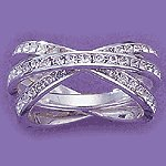 Sterling Silver White Cubic Zirconia Ring Set