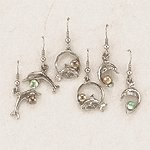 Silver-Plated Assorted Dolphin Earrings
