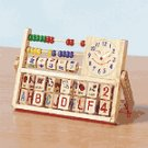 Wood Educational Toy With Clock