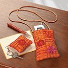 Embroidered Cell Phone Bag Set
