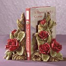 Alabastrite Red Rose Bookends